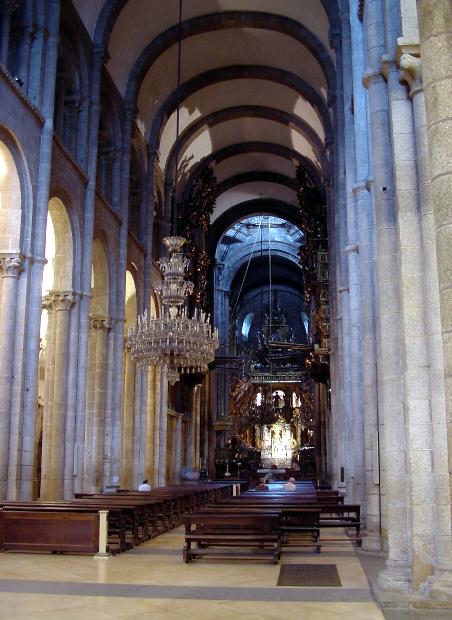 Cathedral of santiago de cempostela - Interior santiago de compostela ...
